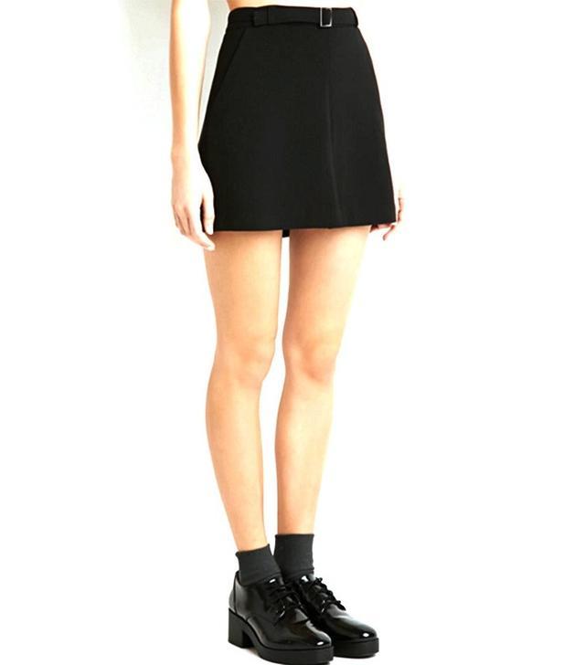 Forever 21 Kick-Pleat Mini Skirt