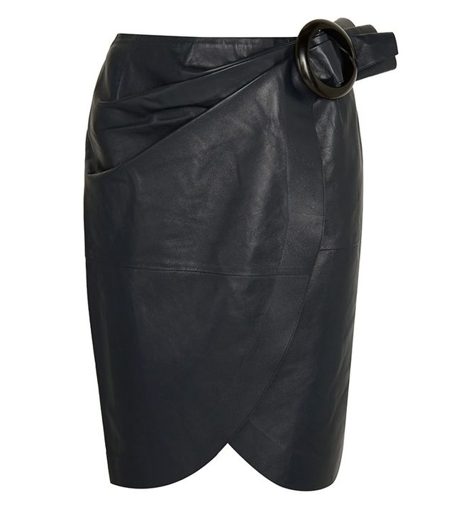 J.W. Anderson Buckled Leather Wrap Skirt