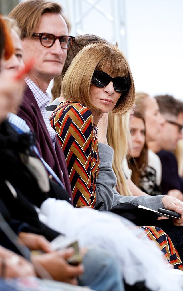 Anna Wintouron the FROW at theJ.W. Anderson S/S 16 show.