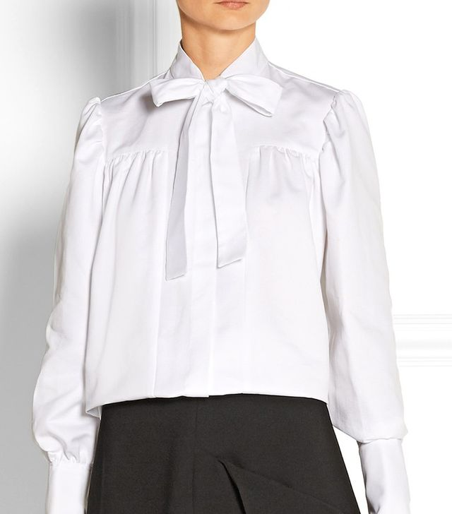 J.W. Anderson Pussy-Bow Drill Blouse