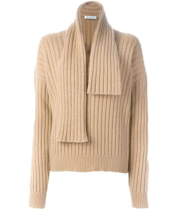 J.W. Anderson Ribbed Scarf-Detail Jumper