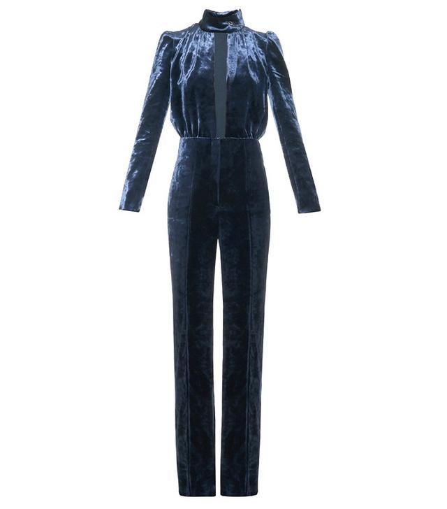 Sonia Rykiel Safety-Pin Velvet Jumpsuit