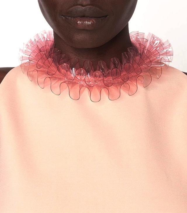 Mary Katrantzou PVC Ruffled Necklace