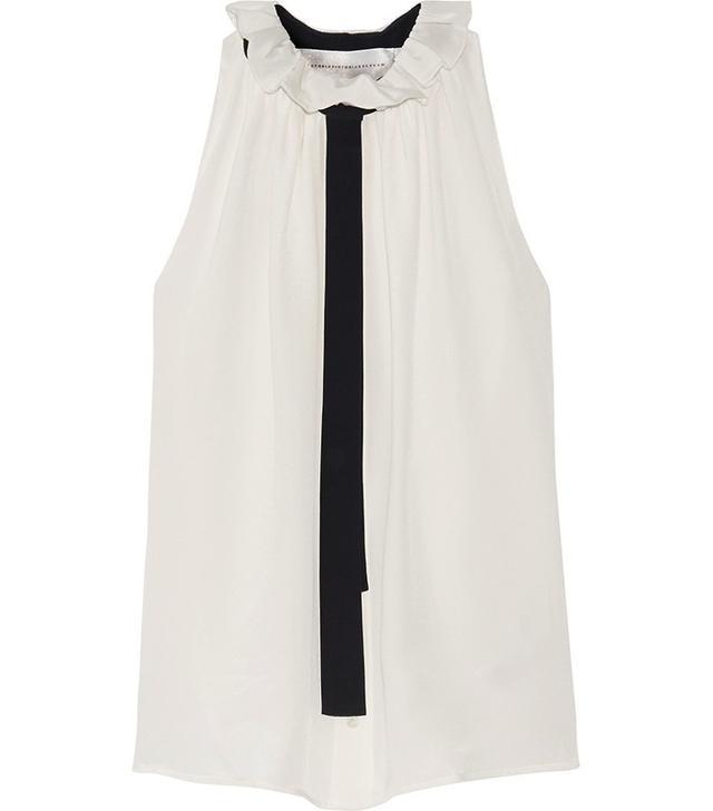 Victoria Victoria Beckham Ruffled Silk Top