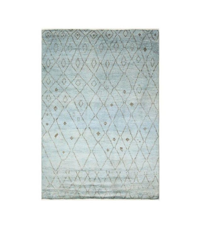 One Kings Lane Moroccan Rug in Light Blue