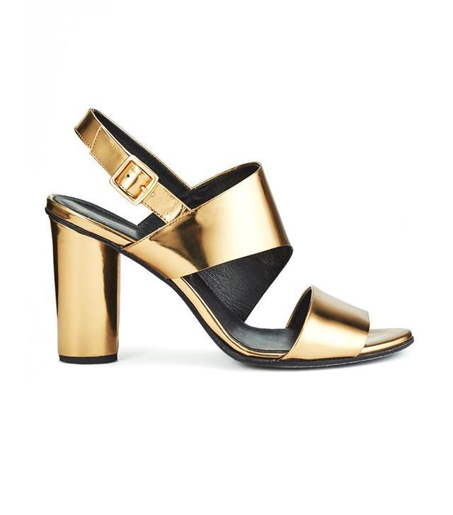 Jigsaw A-Line Block-Heel Leather Sandal