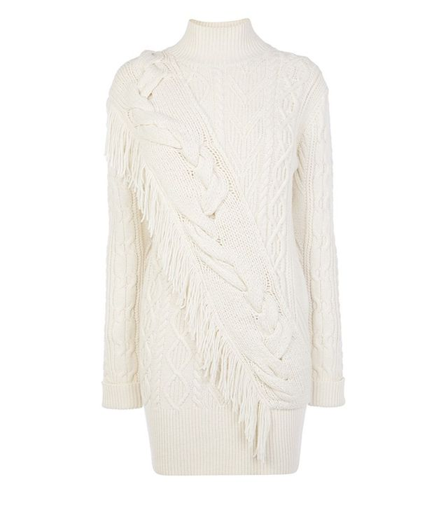 Karen Millen Atelier Fringed Jumper Dress