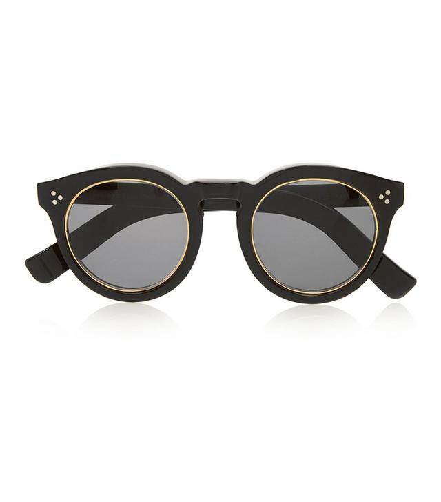 Illesteva Leonard II Round-Frame Acetate Sunglasses