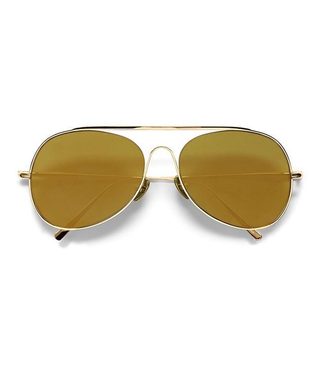 Acne Studios Spitfire Large Flash Gold Sunglasses