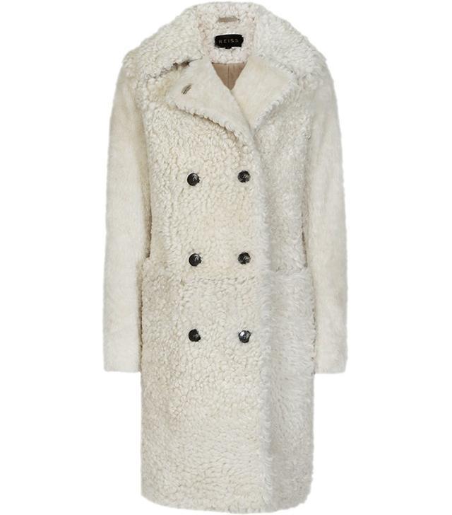 Reiss Premium Shearling Coat