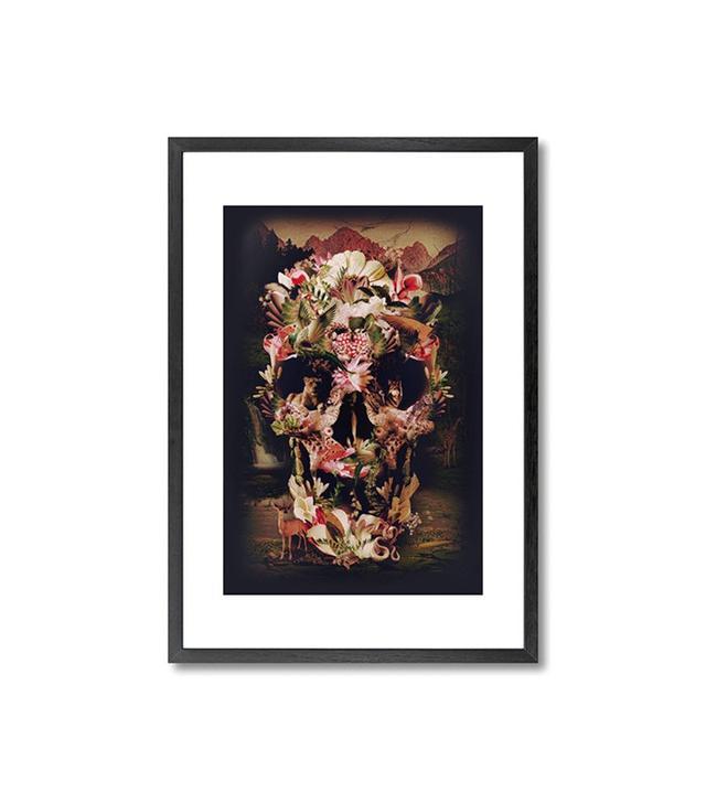 Monde Mosaic Jungle Skull Print