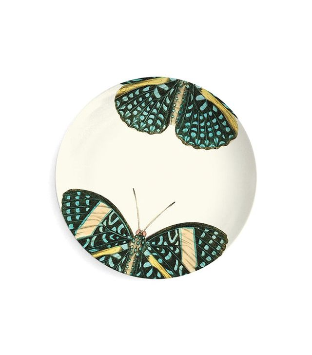 The Mad Platters Turquoise Butterfly Melamine Plate