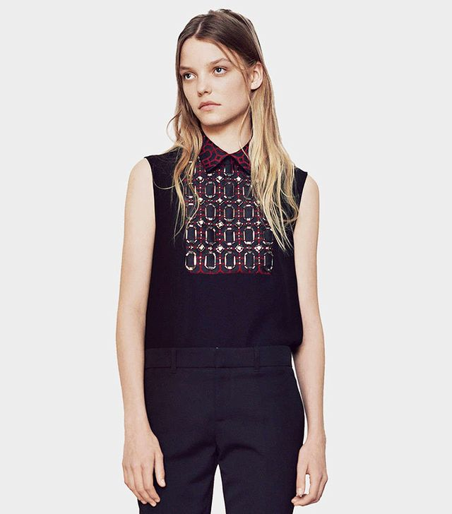 Gucci Octogonal Jacquard Embroidered Top