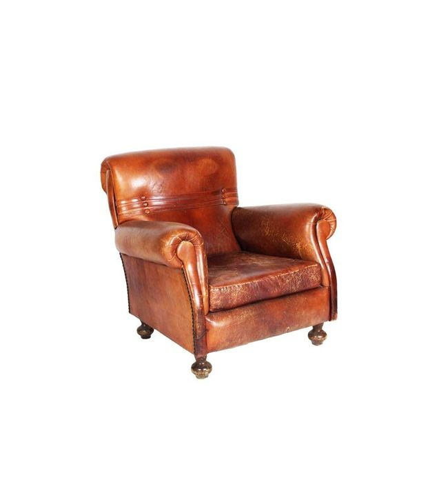 Chairish Vintage Leather Club Chair