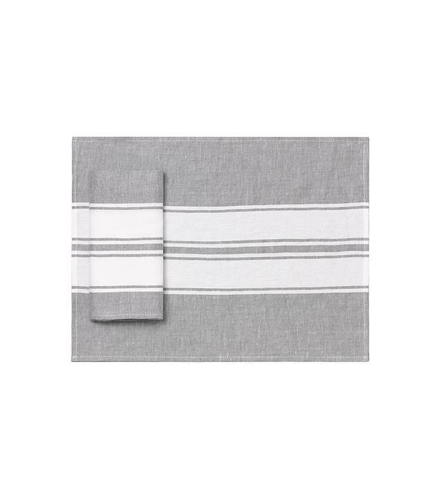 Calvin Klein Somer Stripe Linen Placemat Set
