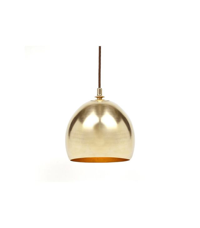 Michele Varian Brass Dome Pendant Lamp