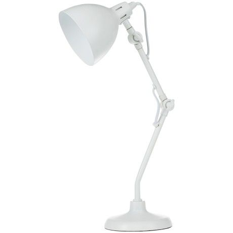 Freedom Oakleigh Table Lamp in White