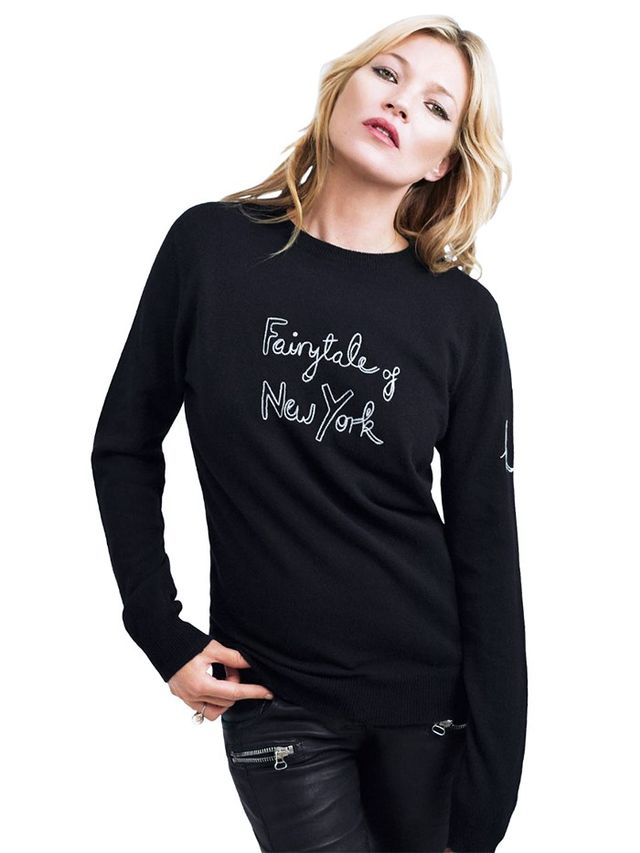 On Moss: Save The Children Bella Freud X Kate Moss Sweater(£365).