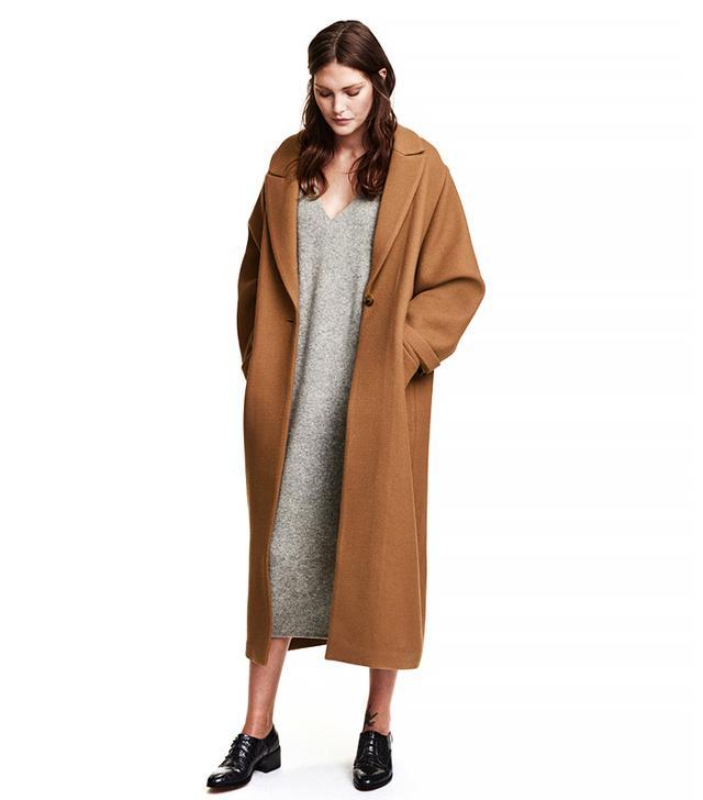 H&M Wool-Blend Twill Coat