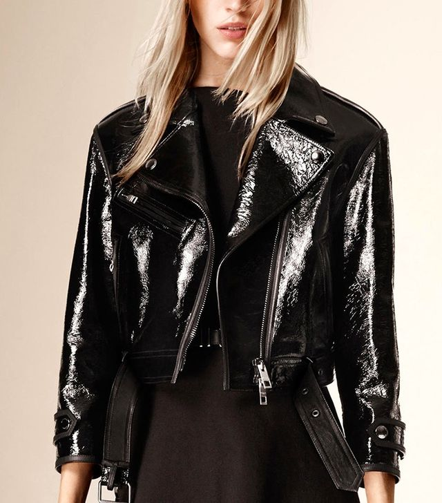 Burberry Patent Leather Biker Jacket
