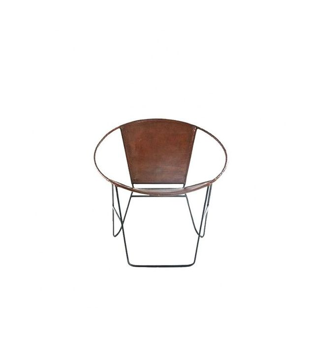 Urban Outfitters Jax Leather and Wire Chair
