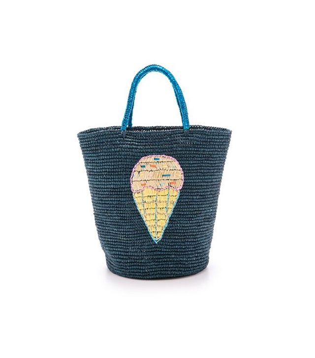Sensi Studio Ice Cream Embroidery Tote
