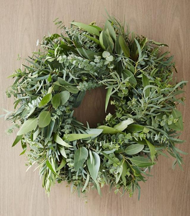 West Elm Mixed Eucalyptus Wreath