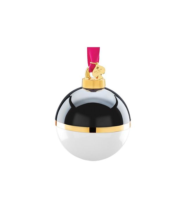 Kate Spade New York Black & Cream Globe Ornament