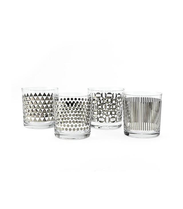 West Elm Metallic-Print Glassware