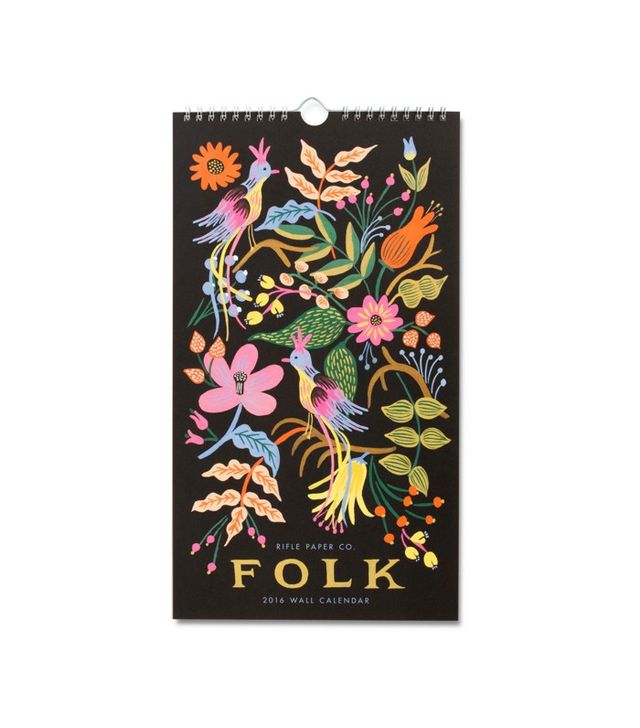 Rifle Paper Co. 2016 Folk Wall Calendar