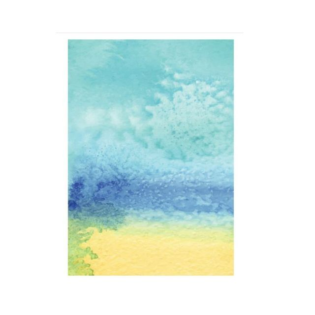 Milk n Honey Designs Beach Watercolour Art Print