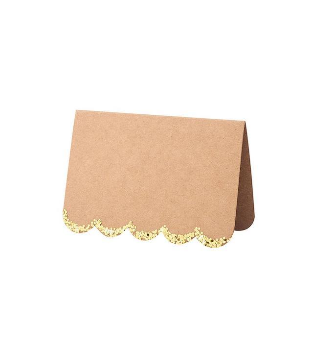 Kraft Glitter Placecards