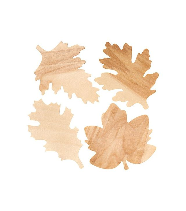 Paper Source Wooden Fall Leaves