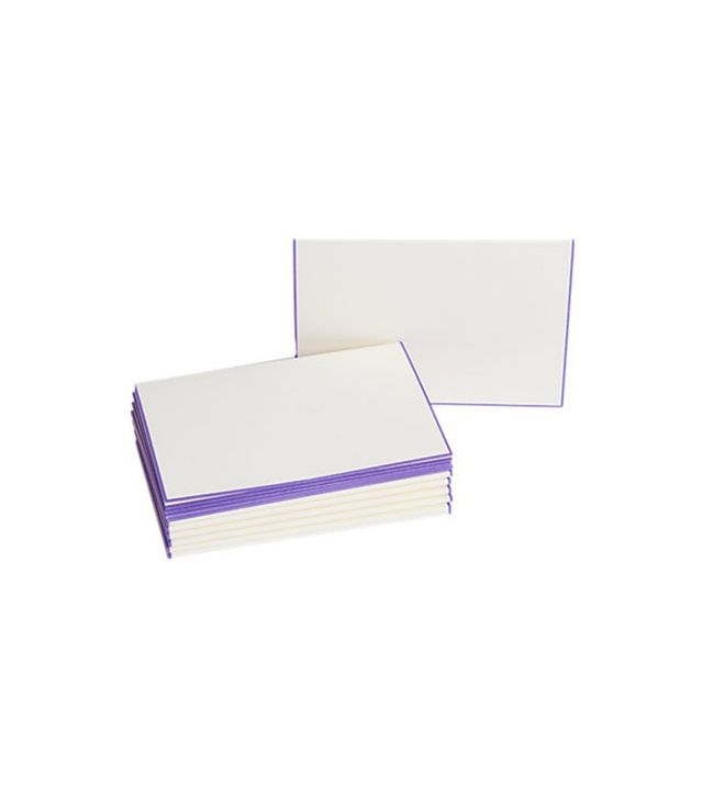 Connor Purple Border Place Cards