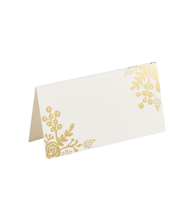 Rifle Paper Co. Gold Floral Place Cards
