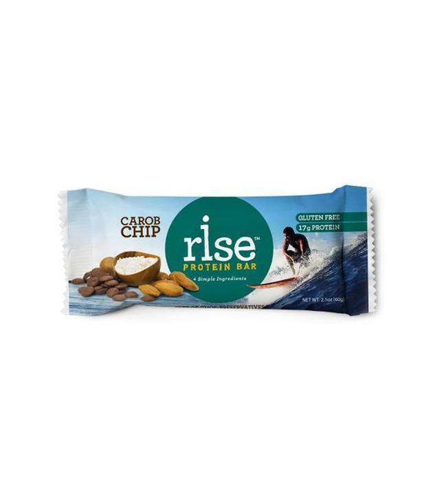 Rise Bar Box of 12 Gluten-Free, High-Protein Crunchy Carob Chip Bars