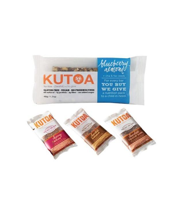 Kutoa Box of 4 Chia & Flax Seed Gluten & Soy Free Vegan Bars
