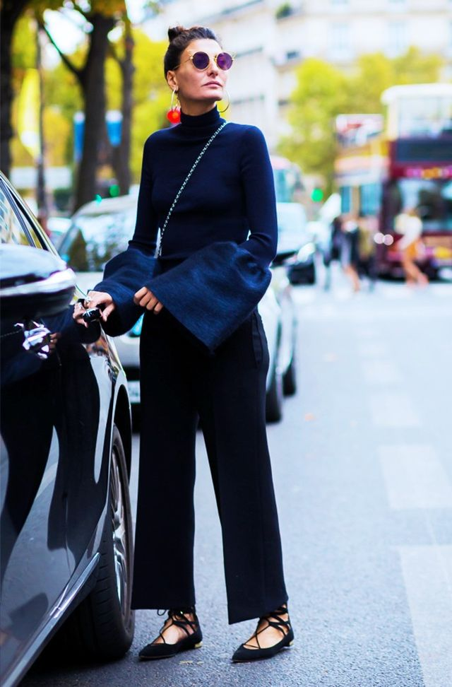 On Battaglia: Aquazzurra shoes.