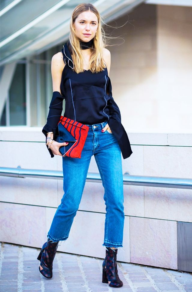 On Pernille: Céline top; Louis Vuitton boots.