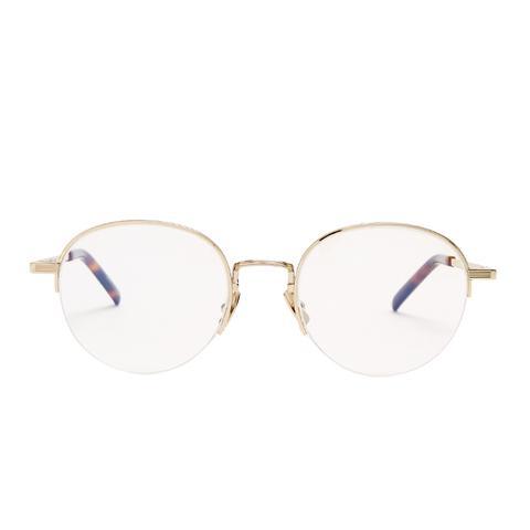 Oval-Frame Metal Glasses