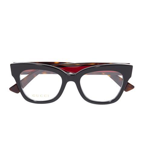 Cat-Eye Embellished Acetate Optical Glasses