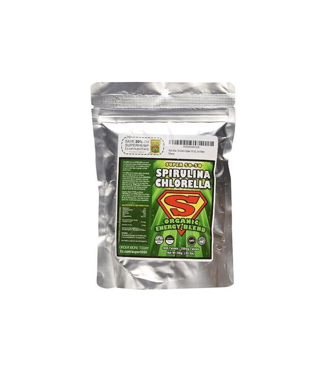 Super 50-50 Spirulina Chlorella Organic Energy Blend Tablets