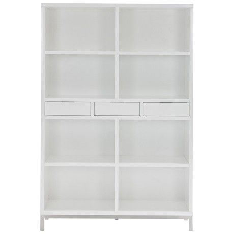 Freedom Signature Bookcase with Drawers in White