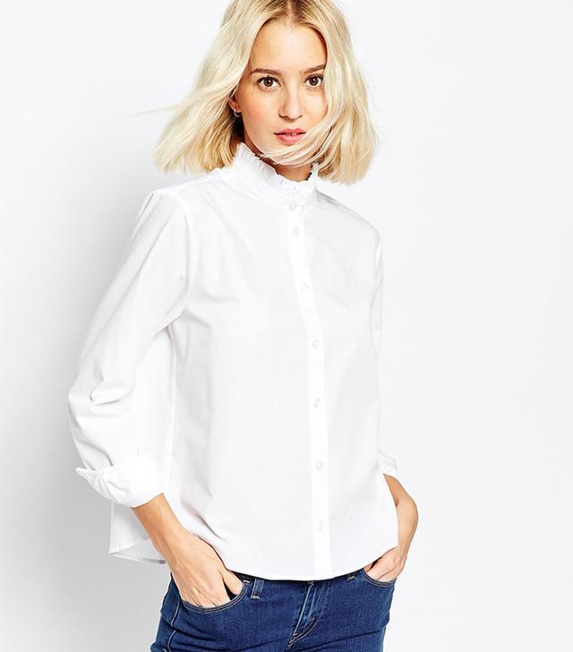 ASOS Frill Neck Shirt