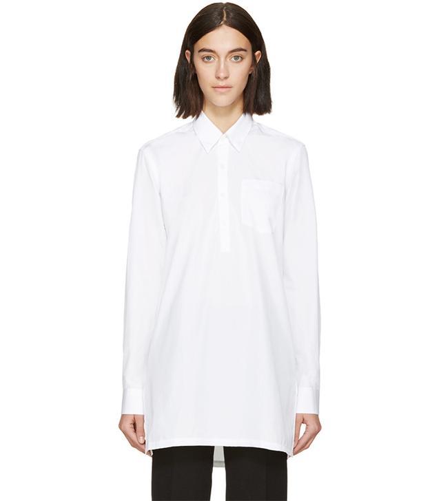Etudes Studio White Poplin Shirt