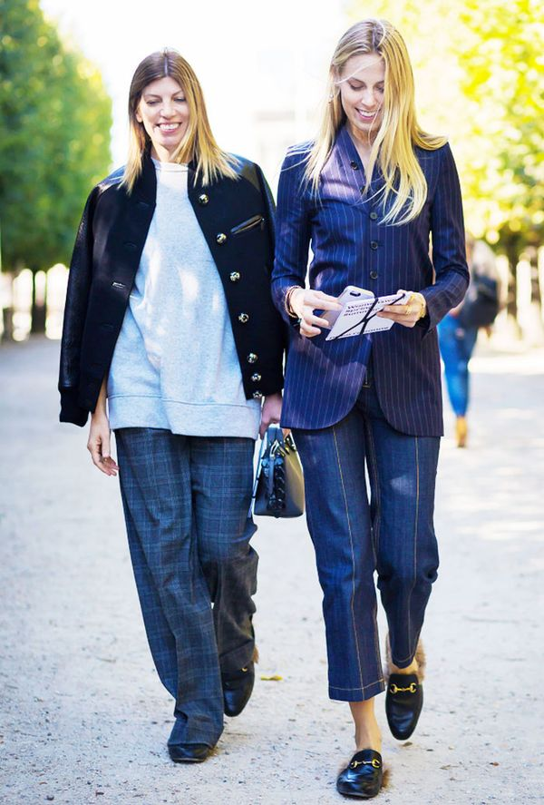 Virginia Smith and Selby Drummond in the Gucci Princetown Slippers