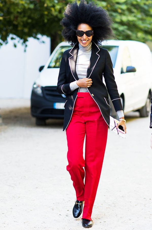 Julia Sarr-Jamois in the Gucci Princetown Slippers