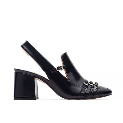 High Heel Slingback Shoes With Buckle