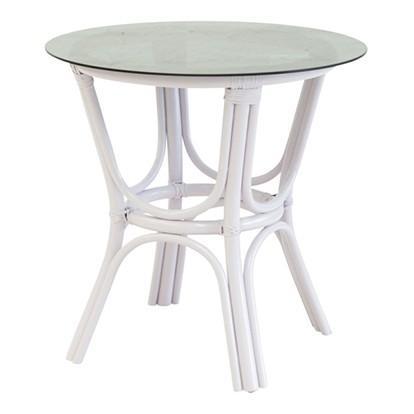 The Family Love Tree Smokey Glass Top Table White