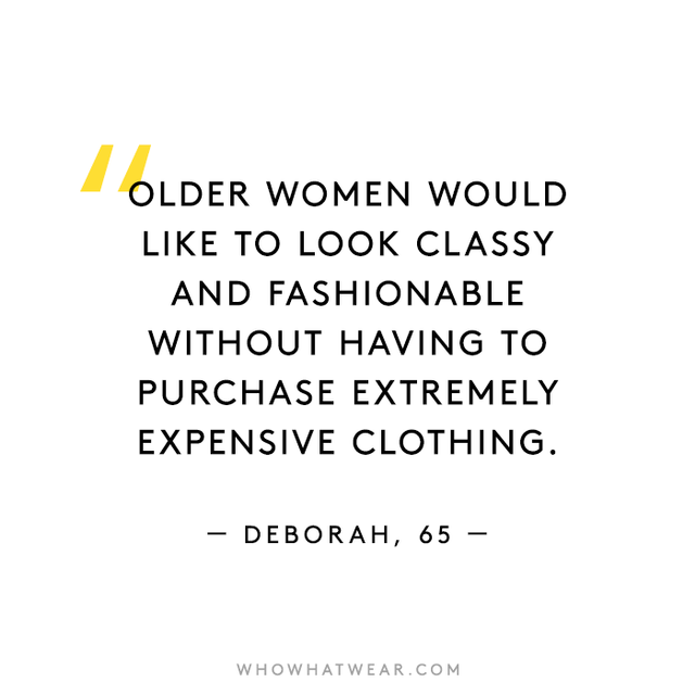 1. What do you wish the media and society at large understood about your style as an older woman? 